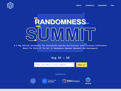 Randomness Summit Website web design website conference summit