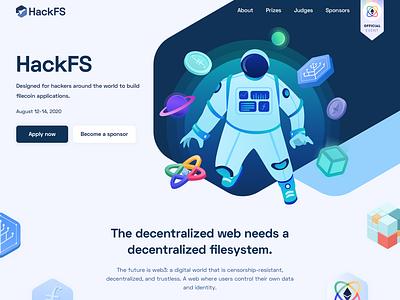 HackFS Website Design illustration website web filecoin ethereum hackathon