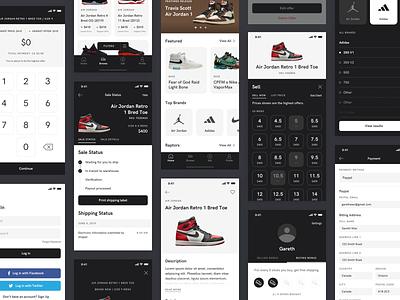 Sneaker App Screens mobile app design mobile app ui sneakers shoes ui design mobile