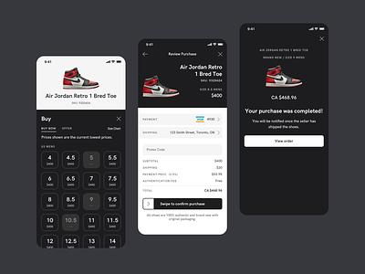 Buy Sneaker Flow sneaker shoes mobile ui mobile app design ui design sneaker app nike