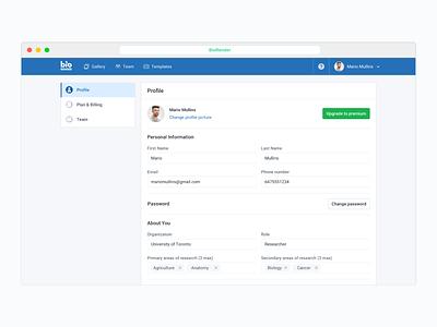 Account Settings 👤 settings ux ui account settings account profile saas