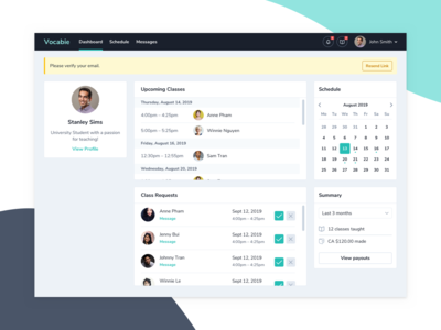 Dashboard - Teaching Platform