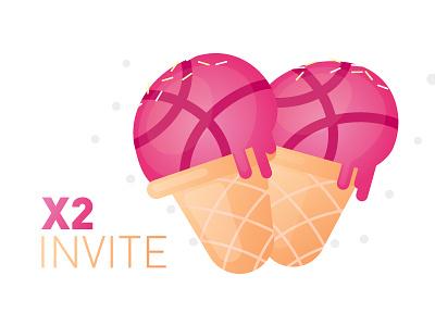 2-INVITE player member invit dribbble