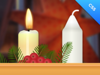 Live Advent Candlestick - css3/javascript