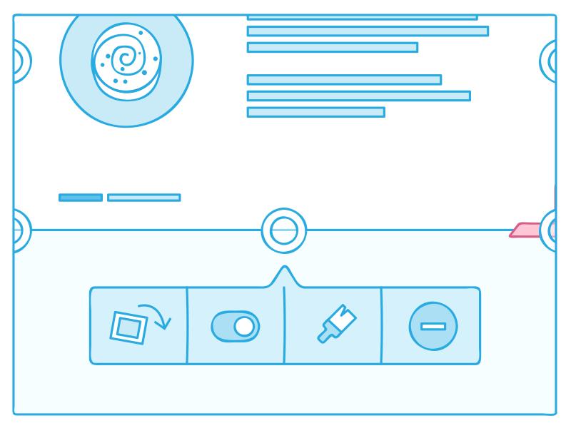 Wireframe wireframe toolbar uit understandit icons brush slider rotate reset