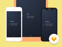 Simple Apple device mockup – Sketch Library