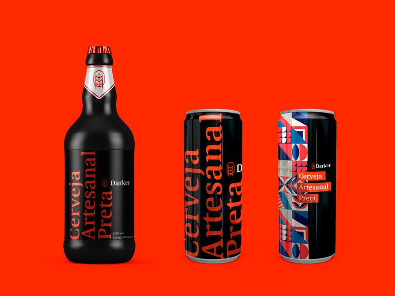 Darker black darker dark packaging craftbeer beer logotype logo brand identity brand