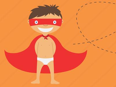 Dribbbleshot superhero