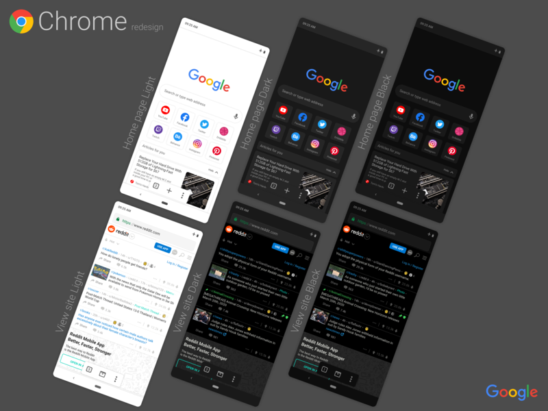 Google Chrome Redesign by Evgenii Efanov on Dribbble