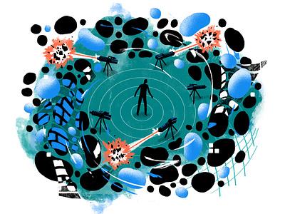 Precision Immunotherapy data visulization data viz dataviz data corona coronavirus virus germs medical health science light editorial illustration editorial illustration