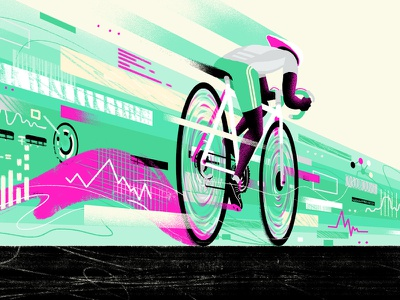 Phantastic Lab / Formula for Speed illustration athletics sports cycling editorial infographics infographic data visualization information info data bicycle bike race speed
