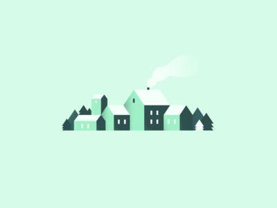 Northern Village illustration simple simple design inkscape new nature village north