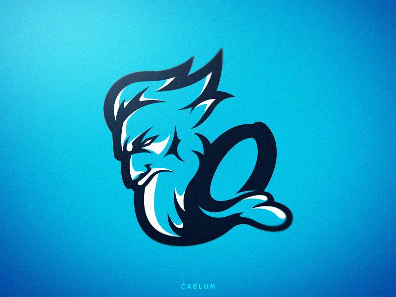 Neptune caelum branding logo logotype identity sport esport mascot