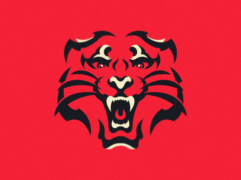 Wild Cat illustration hiwow sport esport branding mascot logo identity caelum
