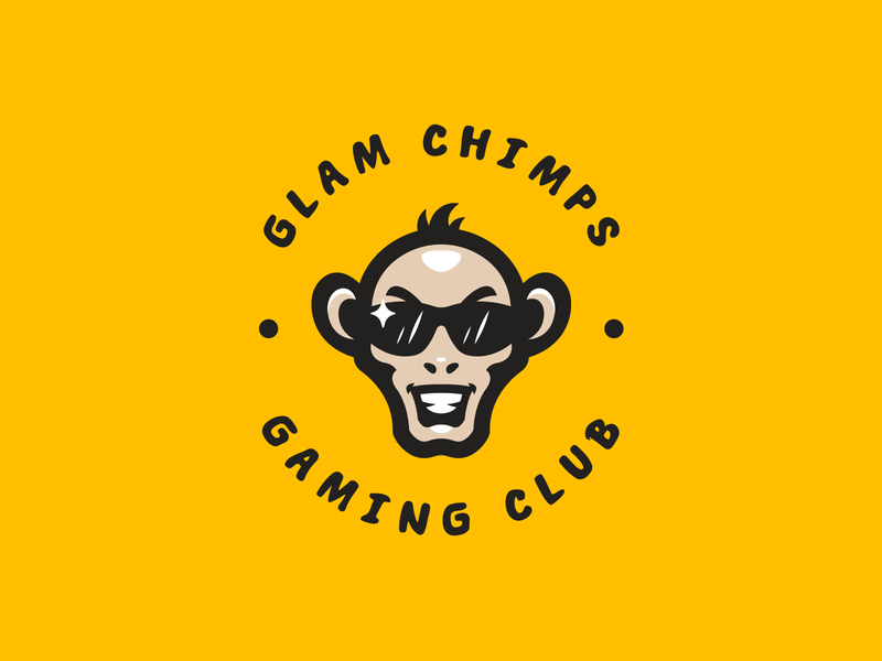 Glam Chimps animal illustration hiwow logotype esport sport branding mascot logo identity caelum