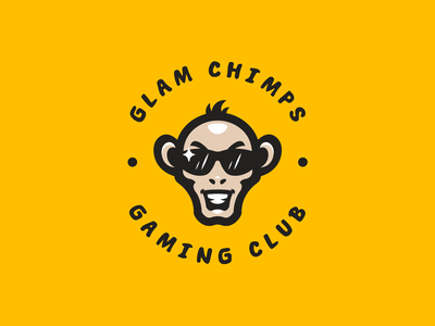 Glam Chimps animal illustration hiwow logotype esport sport branding mascot logo identity caelum