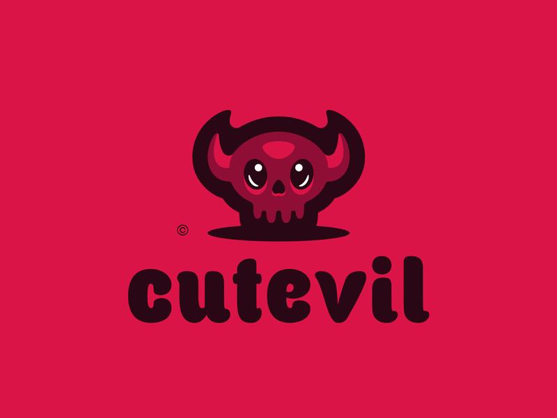 Cutevil illustration hiwow logotype sport esport branding mascot logo identity caelum