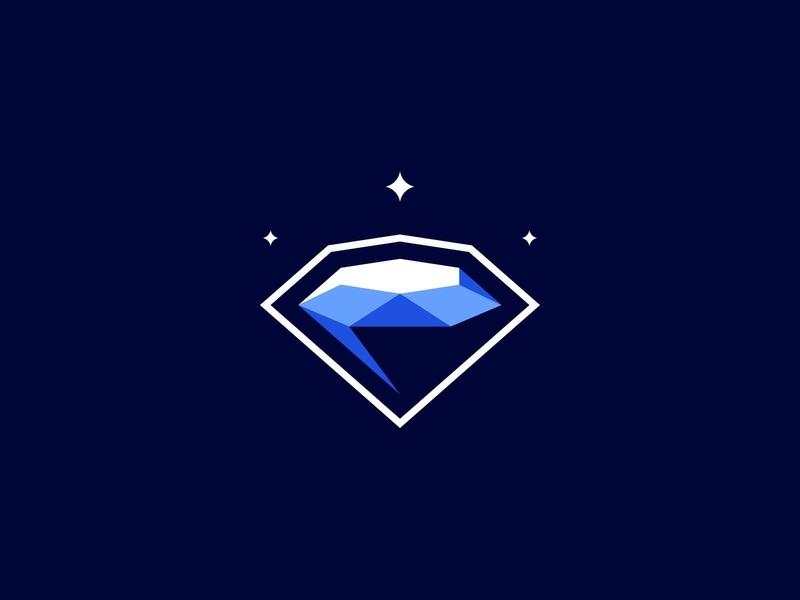 Diamond gem diamond logo diamond branding icon illustration mascot logo identity caelum