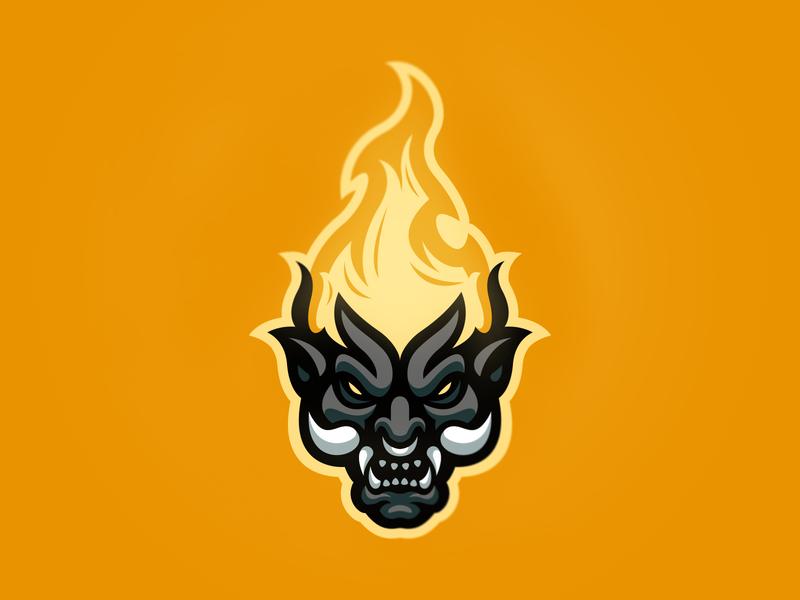 Burning Demon vector icon illustration hiwow logotype sport esport branding mascot logo identity caelum