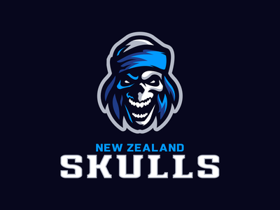 New Zealand Skulls vector icon illustration logotype sport esport branding mascot logo identity caelum