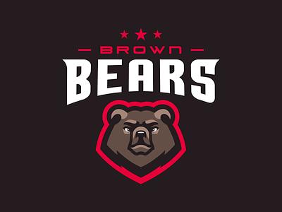 Brown Bears design vector animal icon illustration logotype sport esport branding mascot logo identity caelum
