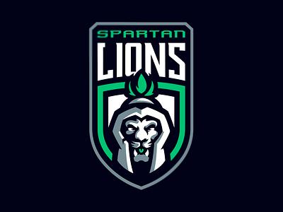 Spartan Lions esports sports spartan lion logo design vector animal icon illustration logotype sport esport branding mascot logo identity caelum