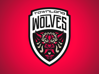 Townlong Wolves sports esports illustration logotype sport esport branding mascot logo identity