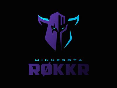 Minnesota RØKKR icon illustration logotype sport esport branding caelum mascot logo identity