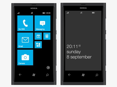 Lumia 800 recreated with CSS3