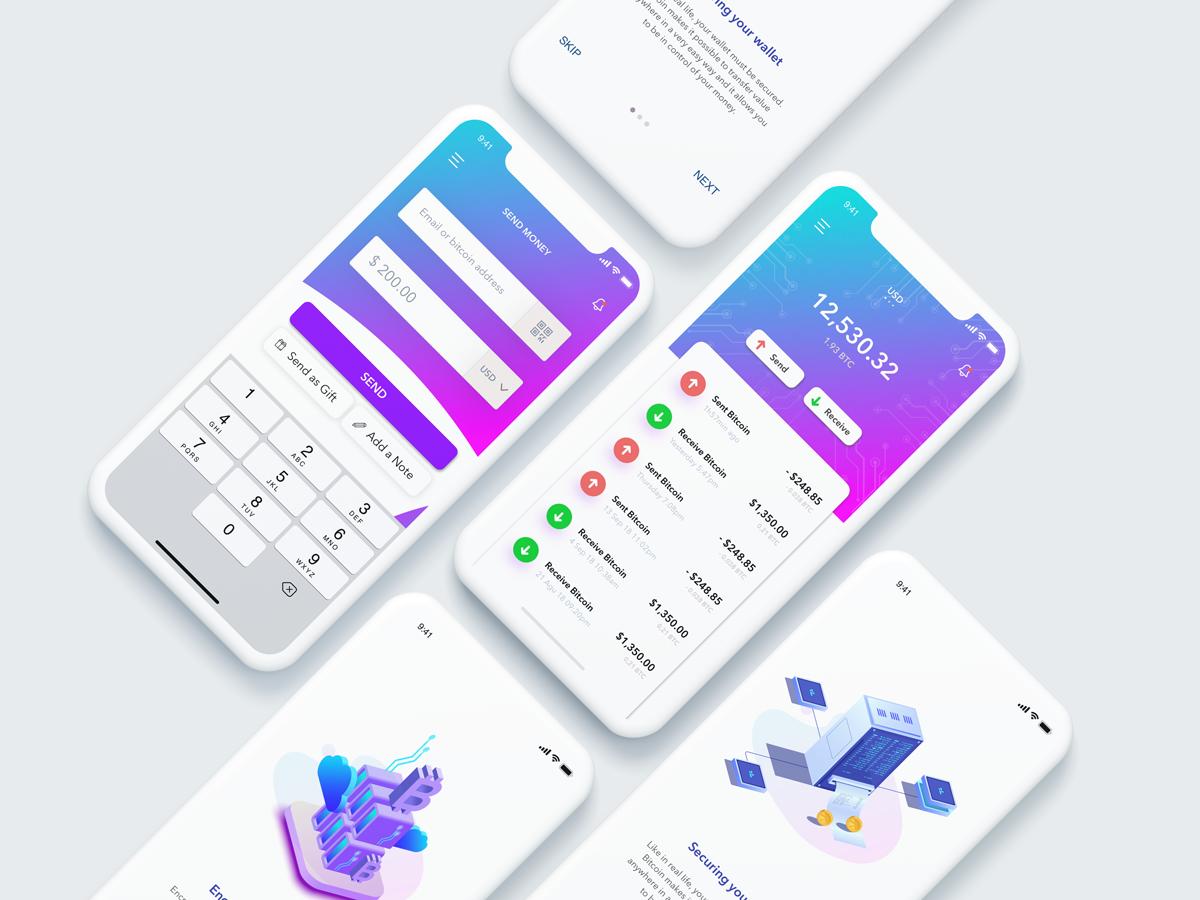 Cryptocurrency Wallet Ui Design By Onurkuru Dribbble Dribbble