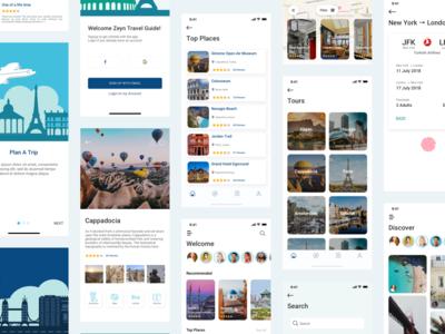 Zeyn Travel Guide UI Kit