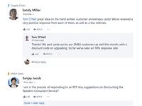 Yammer thread explorations