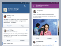 Yammer Android App - New grid, visual standards