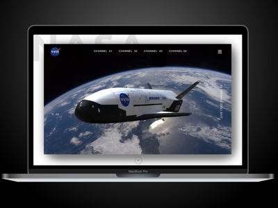 Nasa Landing Page mobile first web design web ux ui minimal flat design dailyui