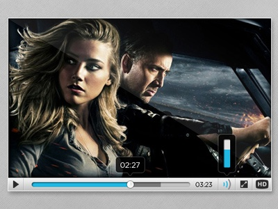 Video Player Interface video player interface media skin controls html5 psd tooltip