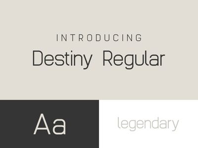 Destiny - A Futuristic Sans