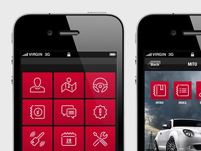 Alfa Romeo mobile app mobile app icon pictogram logo vector outline alfa romeo