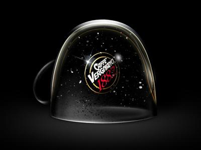 Caffè Vergnano Christmas wishes christmas wishes coffee cup snow ball digital illustration dark caffè vergnano