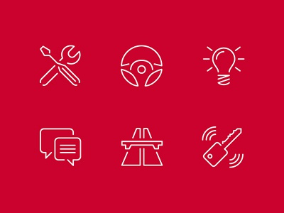 Alfa Romeo Icons pt.1 mobile app icon pictogram logo vector outline alfa romeo