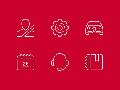 Alfa Romeo Icons pt.2 mobile app icon pictogram logo vector outline alfa romeo