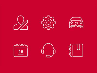 Alfa Romeo Icons pt.2 mobile app icon pictogram logo vector outline alfa romeo