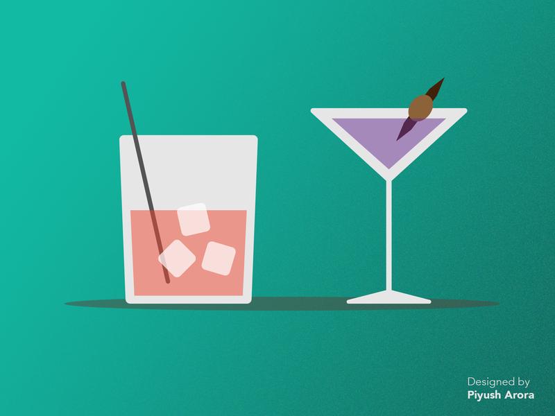 Flat Drinks Illustration photoshop adobe visual design graphic design design art illustrator flat  design illustration drinks