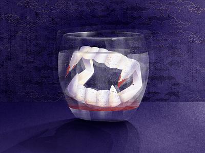 Halloween blood holiday teeth horror dracula illustration halloween
