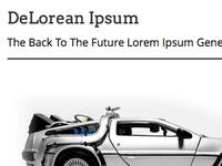 Delorean Ipsum