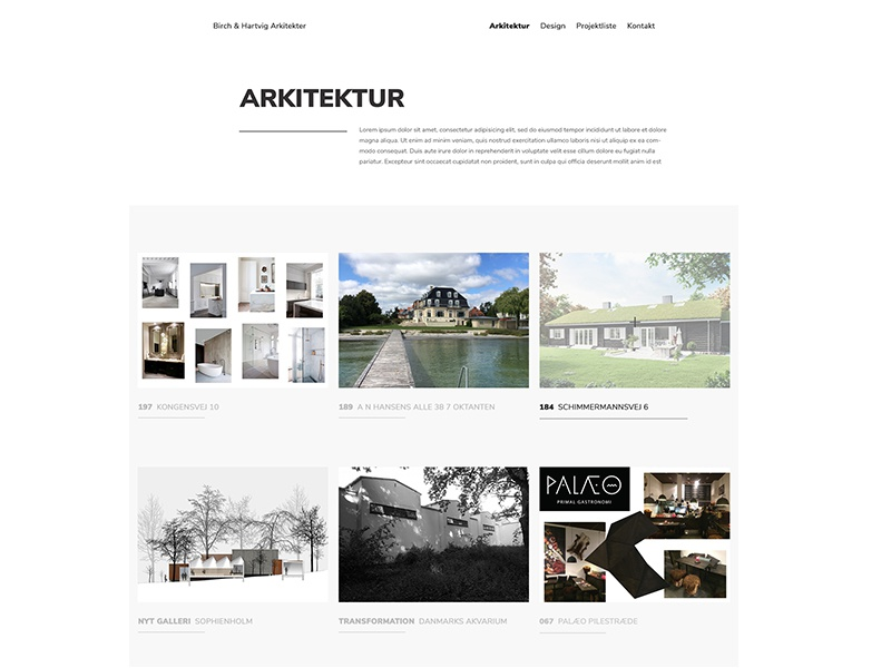 Architect Project Page By Sidsel Dorph Jensen Dribbble Dribbble