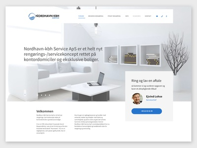 Landing page - Cleaning service