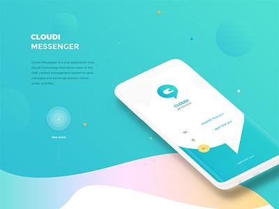 Cloudi Messenger UI/UX cloudi app branding ux ui chat app chat messenger