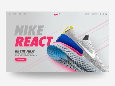 Nike Landing Page Concept