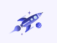 Rocket in Procreate