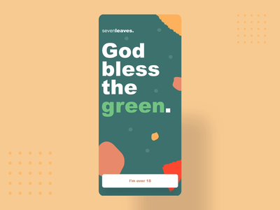 God bless the green 🌱- Video app user interface marketplace market green sell buy shop motion gif video marijuana marihuana cannabis ganja ui